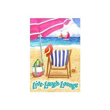 The Cranford Group Live Laugh Lounge Garden Flag