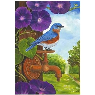 The Cranford Group Bluebird and Rusty Faucet Garden Flag