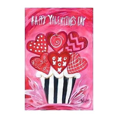The Cranford Group Heart Cupcake Garden Flag
