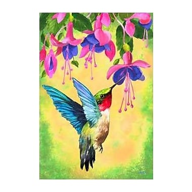 The Cranford Group Hummingbird Fuschia Garden Flag