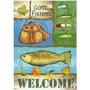 The Cranford Group Welcome Gone Fishing Garden Flag