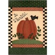 The Cranford Group Be Thankful Pumpkin Garden Flag