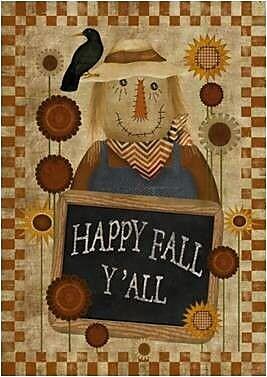 The Cranford Group Happy Fall Ya'll Garden Flag