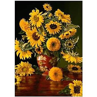 The Cranford Group Sunflowers in Vase Garden Flag