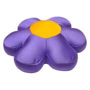 DaDa Bedding Decorative Flower Cushion Pillow; Purple