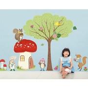 GreenBox Art Woodland Animal Friends Peel and Place by Pim Pimlada Window Sticker