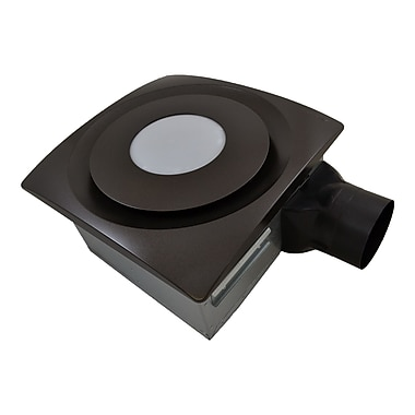 Aero Pure SlimFit 90 CFM Bathroom Fan w/ Light; Oil Rubbed Bronze