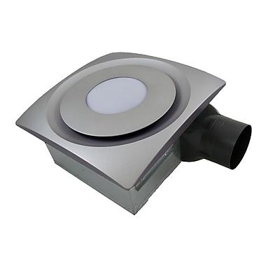 Aero Pure SlimFit 90 CFM Bathroom Fan w/ Light; Satin Nickel