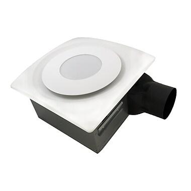 Aero Pure SlimFit 120 CFM Bathroom Fan w/ Light and Sensor; True White