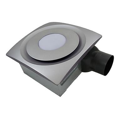 Aero Pure SlimFit 120 CFM Bathroom Fan w/ Light; Satin Nickel