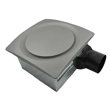 Aero Pure 80-140 CFM Energy Star Bathroom Fan w/ Sensor; Satin Nickel