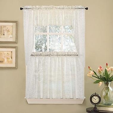 Sweet Home Collection Elegant Priscilla Lace Kitchen Tier Curtain; 24'' L x 58'' W