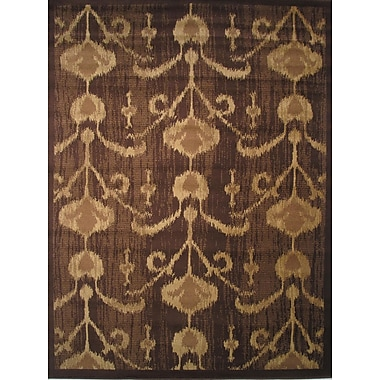 LA Rugs Inspiration Brown/Cream Area Rug; Runner 2' x 8'