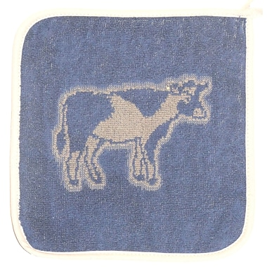 Mierco Cow Terry Potholder (Set of 2); Blue