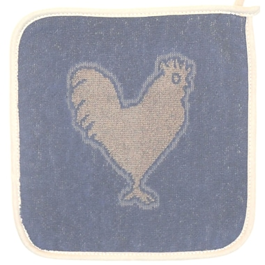 Mierco Rooster Terry Potholder (Set of 2); Blue