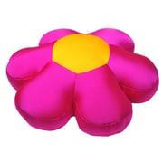 DaDa Bedding Decorative Flower Cushion Pillow; Pink