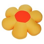 DaDa Bedding Decorative Flower Cushion Pillow; Yellow