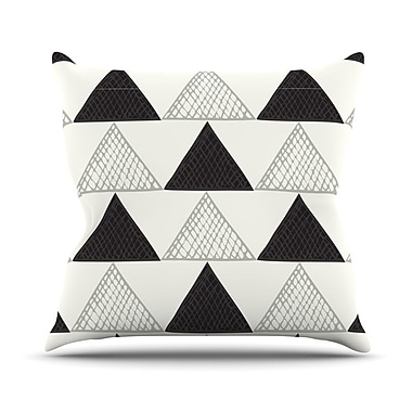 KESS InHouse Textured Triangles Abstract Throw Pillow; 26'' H x 26'' W x 5'' D