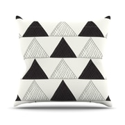 KESS InHouse Textured Triangles Abstract Throw Pillow; 16'' H x 16'' W x 3'' D