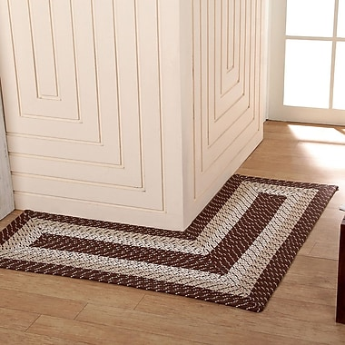 Better Trends Country Hand-Braided Brown Area Rug; 4' x 4'