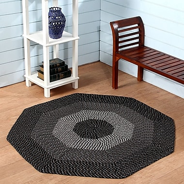 Better Trends Country Hand-Braided Black Area Rug