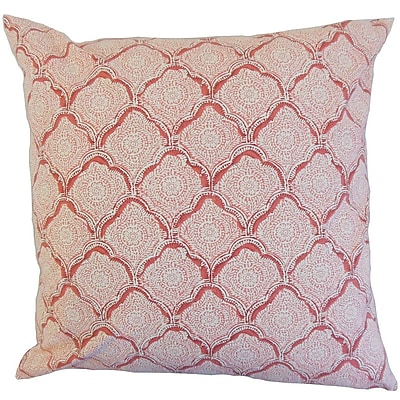 Darby Home Co Chaney Geometric Square Throw Pillow Cover; Blush