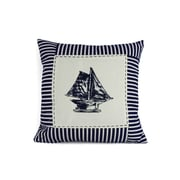 Handcrafted Nautical Decor Sloop Nautical Stripes Decorative Throw Pillow