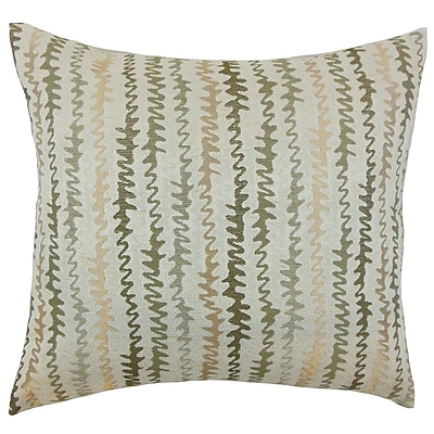The Pillow Collection Elidi Zigzag Cotton Throw Pillow Cover