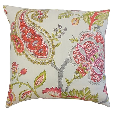 The Pillow Collection Janne Floral Linen Throw Pillow Cover