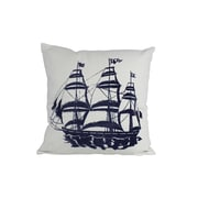 Handcrafted Nautical Decor Tall Ship Nautical Throw Pillow