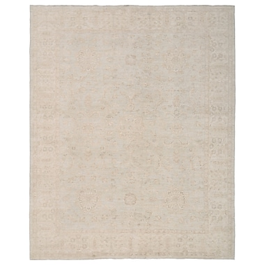 Herat Oriental Vegetable Dye Hand-Knotted Gray/Ivory Area Rug