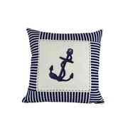 Handcrafted Nautical Decor Anchor Nautical Stripes Decorative Throw Pillow