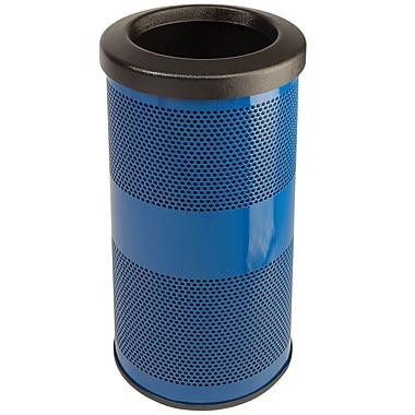 Witt Stadium Series Perforated Metal 10 Gallon Trash Can; Steel