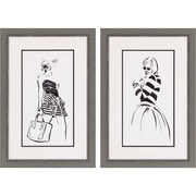 Paragon Striped Out by Sunflowerman 2 Piece Framed Painting Print Set
