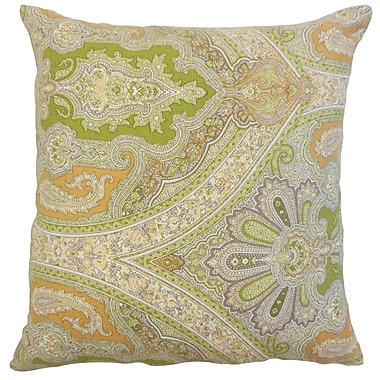 Bloomsbury Market Delmare Damask Linen Throw Pillow Cover