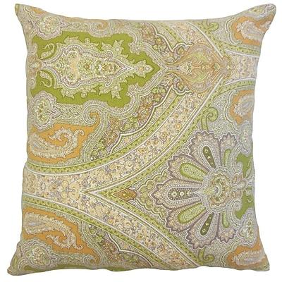 Bloomsbury Market Delmare Damask Linen Throw Pillow; 20'' x 20''