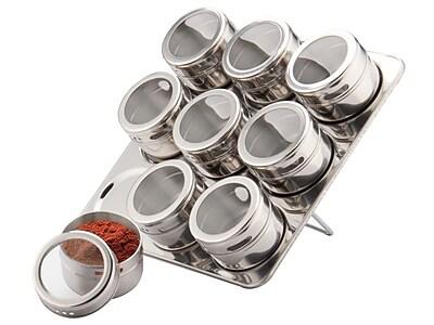 Meglio 10 Jar Spice Jar & Rack
