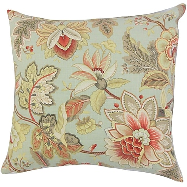 The Pillow Collection Filipa Floral Throw Pillow Cover