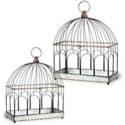 Boston International 2-Piece Metal Terrarium Set