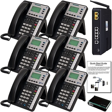Xblue X25 System Bundle with 6 X3030 VoIP Telephones