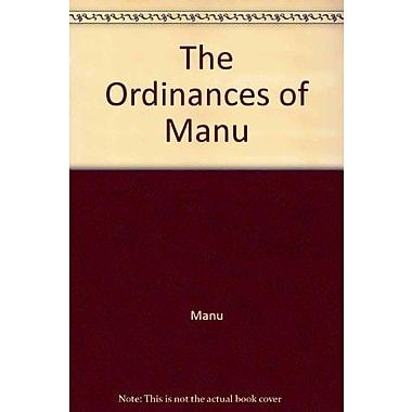 The Ordinances Of Manu, Used Book (9788121506670)