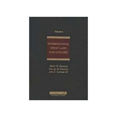 International Trust Laws Amp Analysis, New Book (9789041198303)