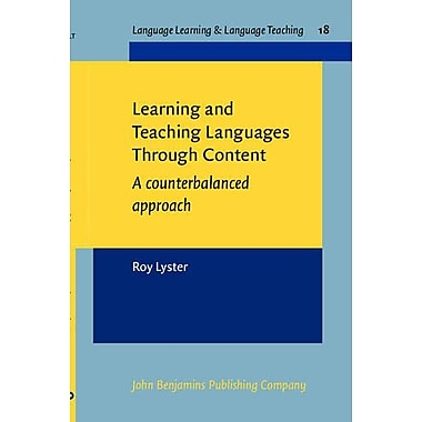 Learning And Teaching Languages Through Content A Counterbalanced Approach Language Learning Amp Langu (9789027219763)