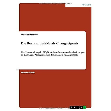 Die Rechnungshofe Als Change Agents German Edition, New Book (9783656167129)