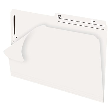 Pendaflex® Slimtrim™ Fastener Folder with # 1 Fastener Position, 2 Prong, Legal Size, Ivory