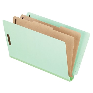 Pendaflex® Pressboard End-Tab Classification Folder, Legal Size, Pale Green