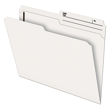 Pendaflex® Recycled Slimtrim™ Double-Top File Folder with # 1 Fastener Position, Letter Size, Ivory