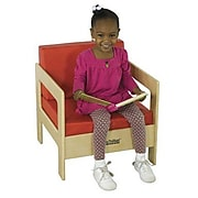 ECR4®Kids Birch Living Room Chair; Red