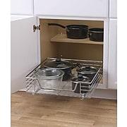 "Household Essentials® Glidez 20"" Deep Sliding Organizer, Chrome"