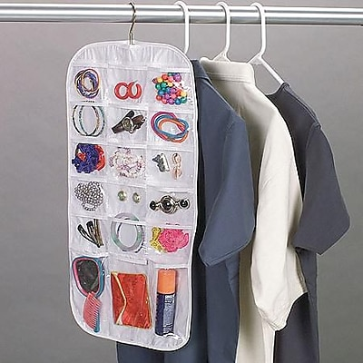 Household Essentials Jewelry Organizer With 37 Pockets White Staples